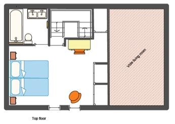 plan du chalet. Black Bedroom Furniture Sets. Home Design Ideas